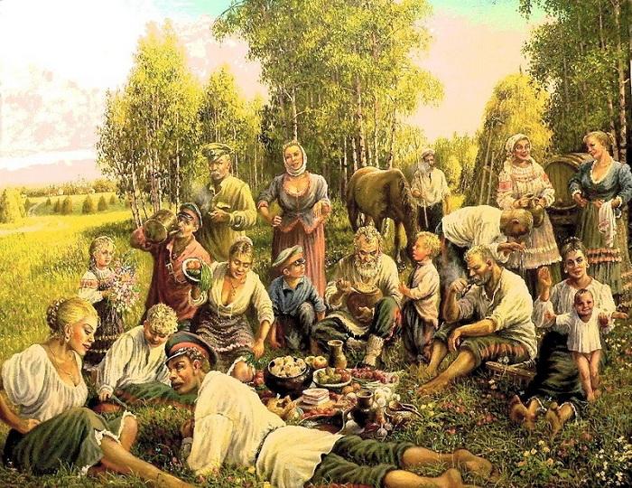 «Сенокос. Обед». Автор: Андрей Лях.