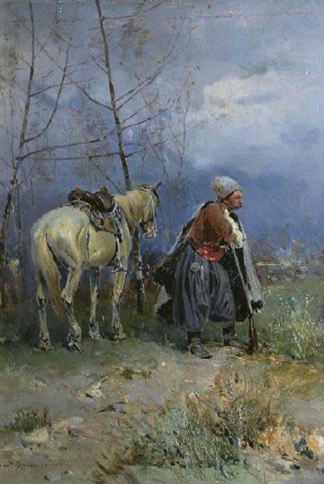 «Запорожец в дозоре». Автор: Сергей Васильковский.