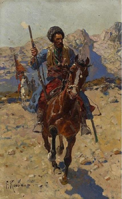 «Казак на лошади». Автор: Франс Рубо.