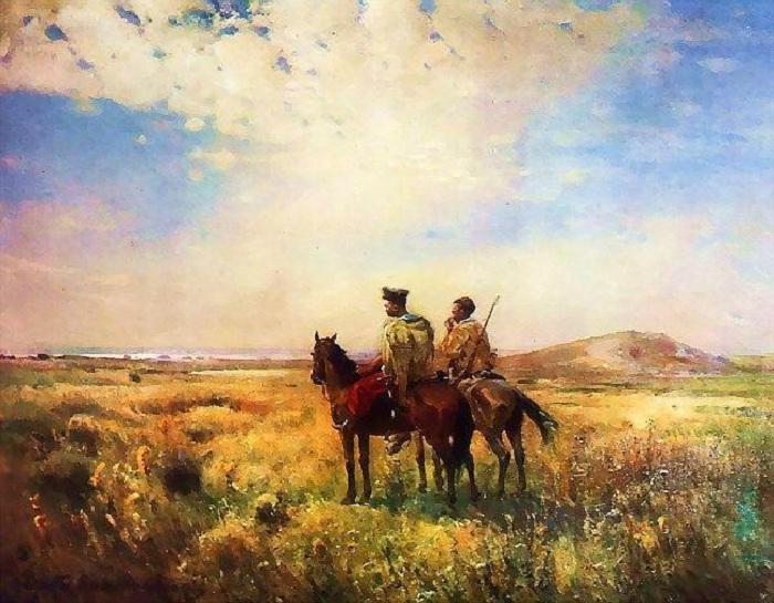 «Сторожа Запорожских вольностей». (1890 г.). Автор: Сергей Васильковский.