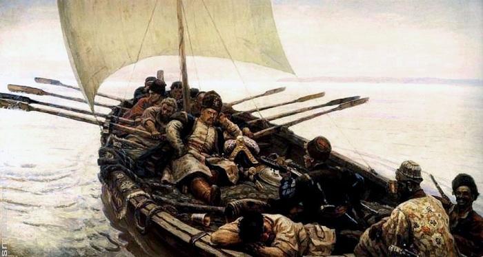 «Степан Разин». (1906). Автор: Василий Иванович Суриков.