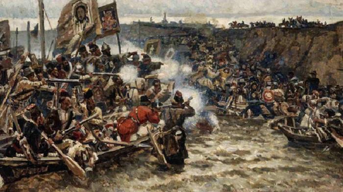 «Покорение Сибири Ермаком». (1895г.) Автор: Василий Иванович Суриков.