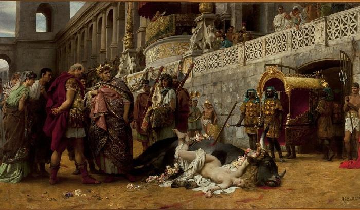 «Христианская Дирцея в цирке Нерона». (1898). Автор: Генрих Семирадский.