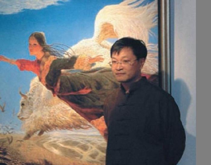 Китайский живописец Wang Yiguang.