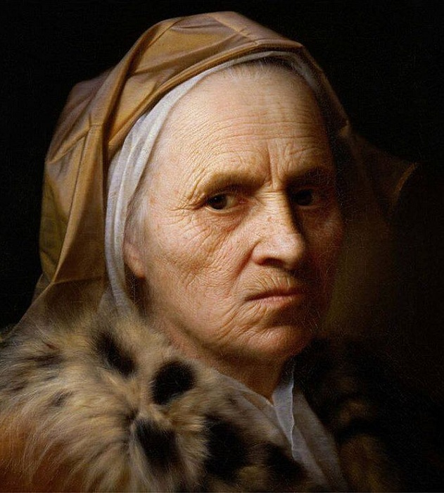 Портрет старой женщины. Автор: Кристиан Сейболд.