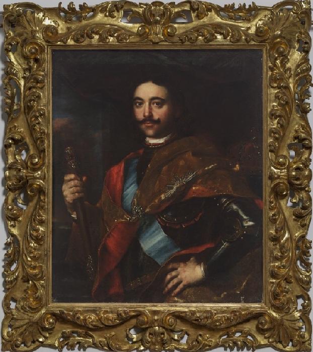 Портрет Петра I с короной.