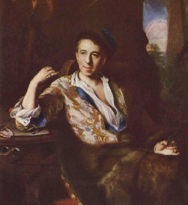 Портрет художника-миниатюриста К. Бруни.