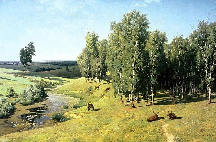 «Летний день». (1884 год.)  Автор: Владимир Орловский.