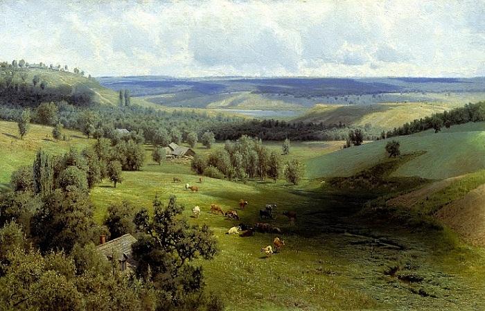 «Летний пейзаж». (1891 год). Автор: Николай Александрович Сергеев.