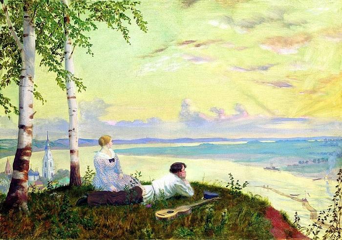 «На Волге». (1922 год.). Автор:  Борис Михайлович Кустодиев.