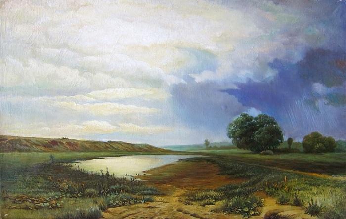 «Мокрый луг». Автор: Федор Александрович Васильев.