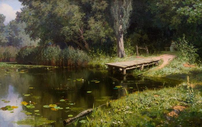 «Заросший пруд». Автор: Василий Поленов.