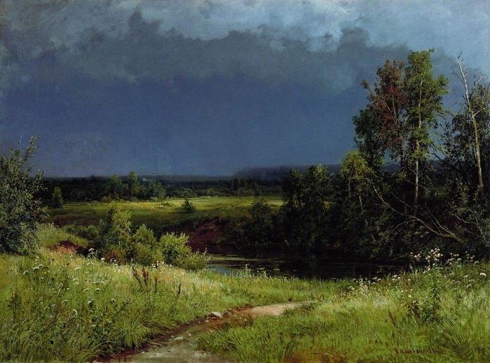 «Перед грозой». (1884 год). Автор: Иван Шишкин.