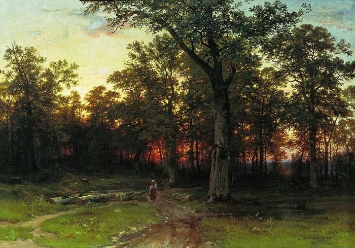 «Лес вечером». Автор: Иван Шишкин.