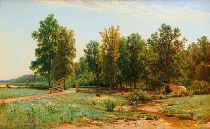 «На окраине дубового леса». Автор: Иван Иванович Шишкин.