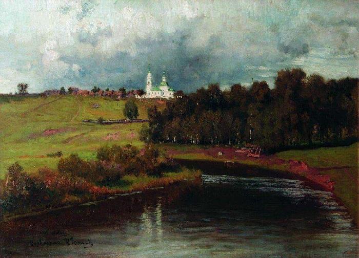 «Вид села Варварина». (1878 год). Автор: Илья Репин.