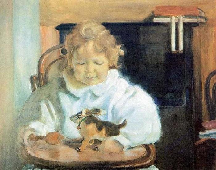 Портрет сына художника. Автор: Лев Бакст.