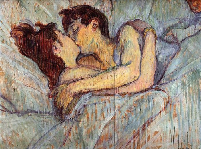 «Поцелуй». Автор: Анри де Тулуз-Лотрек