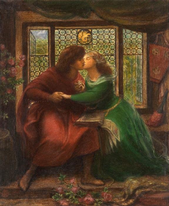 «Паоло и Франческа да Римини» (1867 год). Автор: Данте Габриэль Россетти.