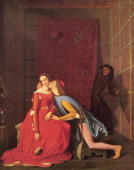«Паоло и Франческа» (1819 год). Автор: Жан Огюст Доминик Энгр.