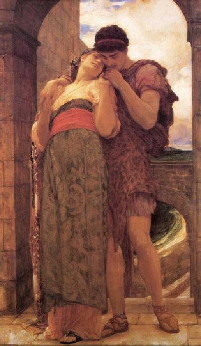 «Молодые супруги». (1882 год). Автор: Фредерик Лейтон.