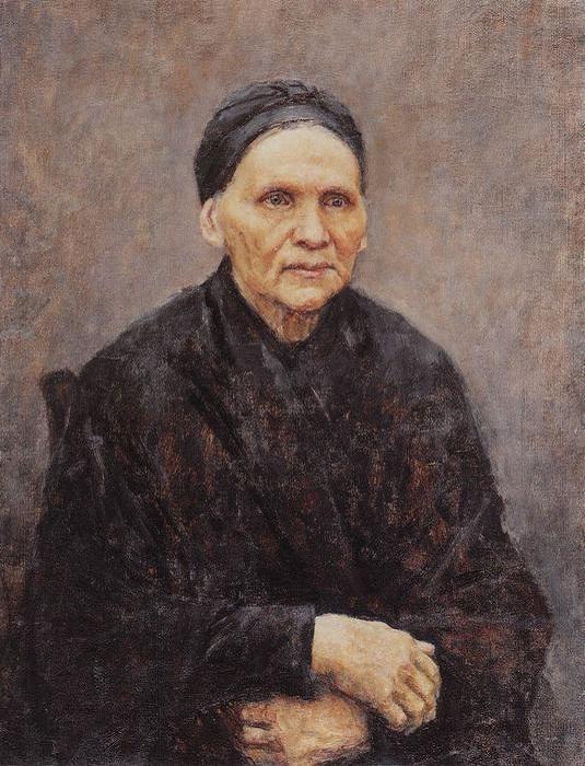 Прасковья Федоровна Сурикова. (1887). Автор: В.И.Суриков.