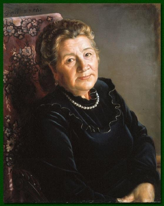 Мать художника - Людмила Сергеевна. Автор: Александр Шилов.