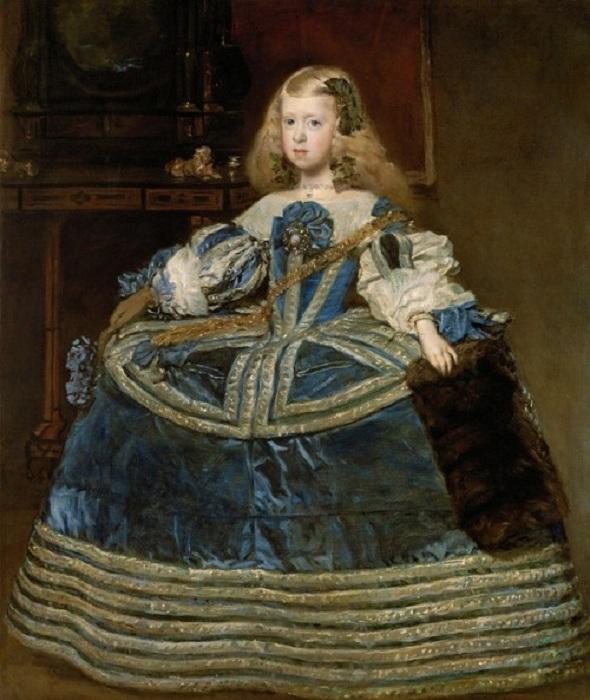 «Портрет инфанты Маргариты в голубом». (1659). Музей истории искусств. Вена. Автор: Диего Веласкес.