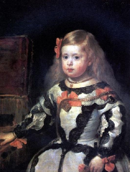 Портрет инфанты Маргариты (1655). Лувр, Париж. Автор: Диего Веласкес.