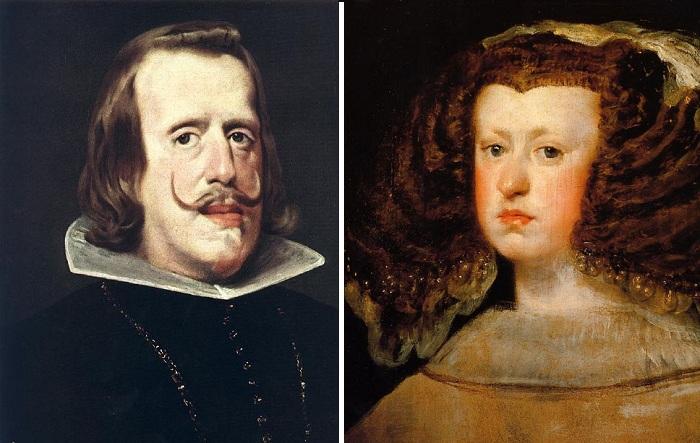 Родители инфанты: Король Испании Филипп IV./ Марианна Австрийская -  вторая жена Филиппа IV. (1660 г.) Автор: Диего Веласкес.