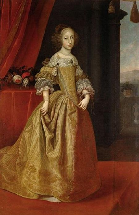 Портрет дочери Марии Антонии (1669 — 1692), ставшей женой Максимилиана II.