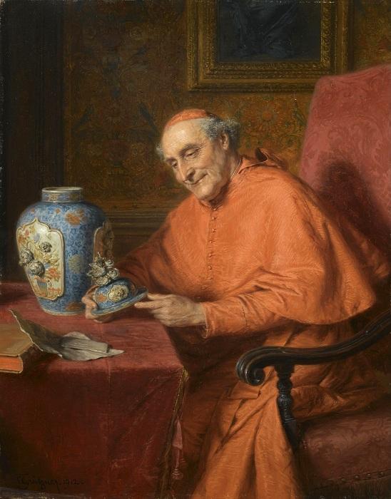 Кардинал в образе любителя искусства. Автор: Эдуард фон Грютцнер.