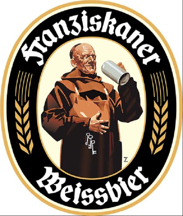 Этикетка  немецкого монашеского пива.