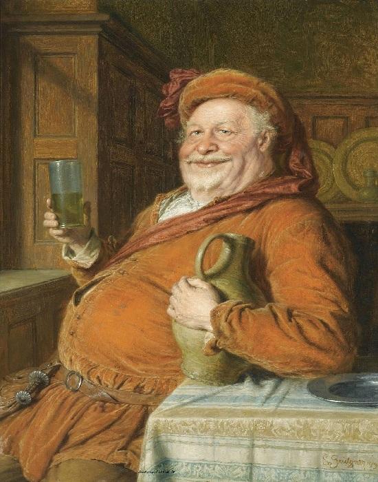 Фальстаф - комедийный герой.Автор: Эдуард фон Грютцнер.