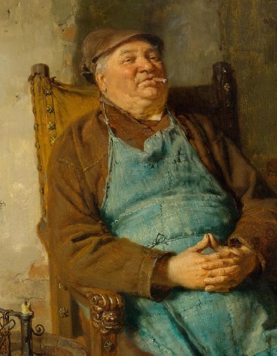 Перекур пивовара. Автор: Эдуард фон Грютцнер.