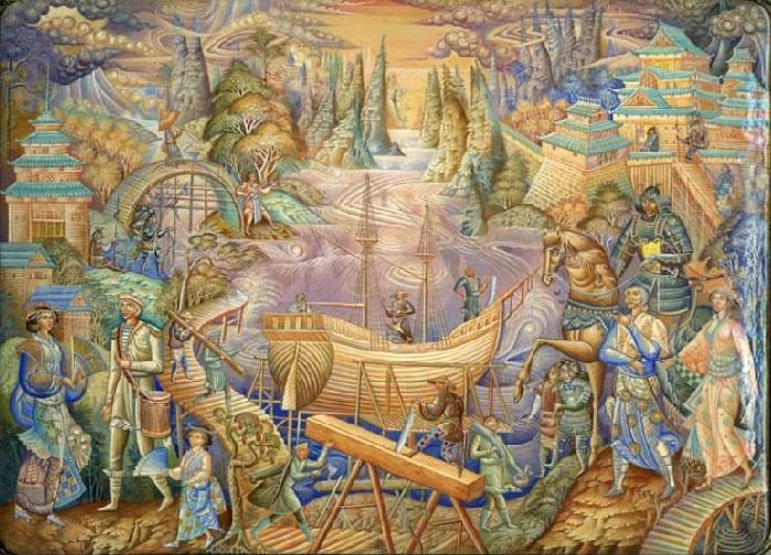 Художественная миниатюра от Николая Молодкина.