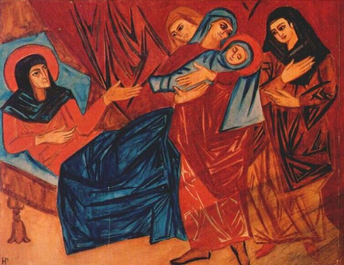 «Рождество Христово». Автор: Наталья Гончарова.