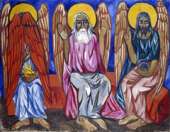 «Отец, Сын и Святой Дух». Автор: Наталья Гончарова.