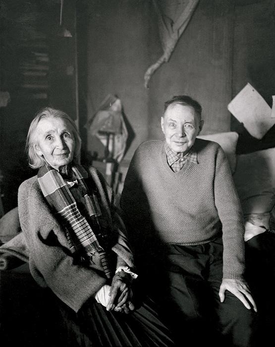 Наталия Гончарова с Михаилом Ларионовым. 1956 г