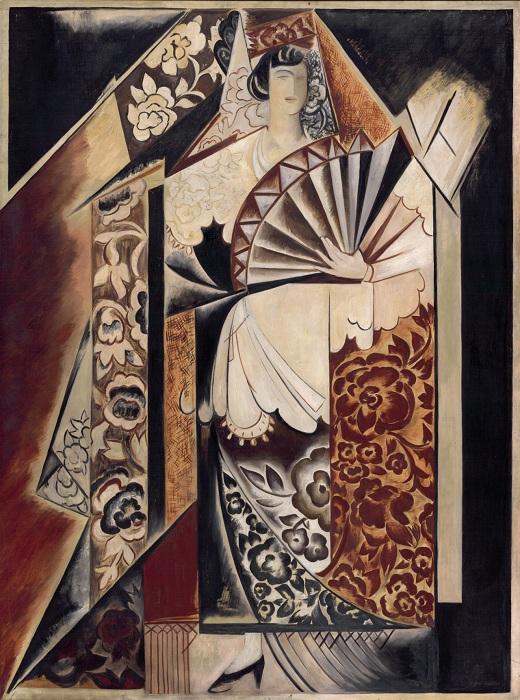 «Испанка с веером». Автор: Наталья Гончарова.