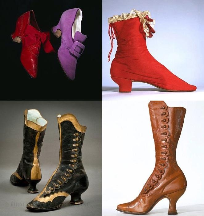 Мода на обувь в 19 столетии.