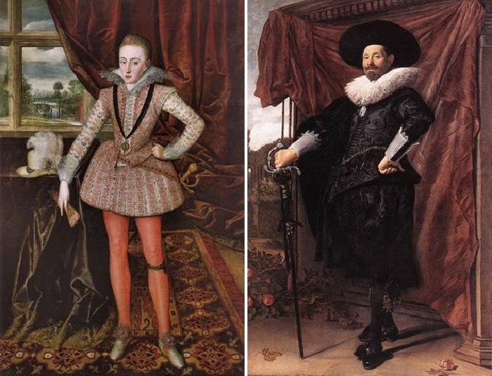 Мужская мода 17 века.