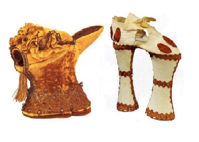 Чопины - обувь на платформе, которую носили в XIV-XVII веках.