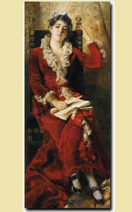 Портрет жены художника. Автор: Константин Маковский.