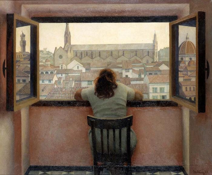Вечер. Старая Флоренция.  (1973).  Автор: Татьяна Ниловна Яблонская.