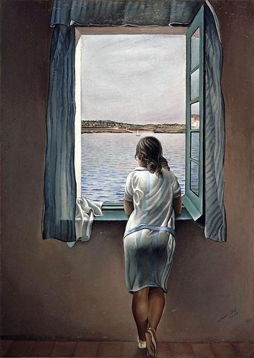 Девушка у окна. Автор: Сальвадор Дали.