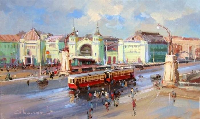 «Вид на площадь Тверская Застава и Белорусский вокзал». Автор: Шалаев Алексей.