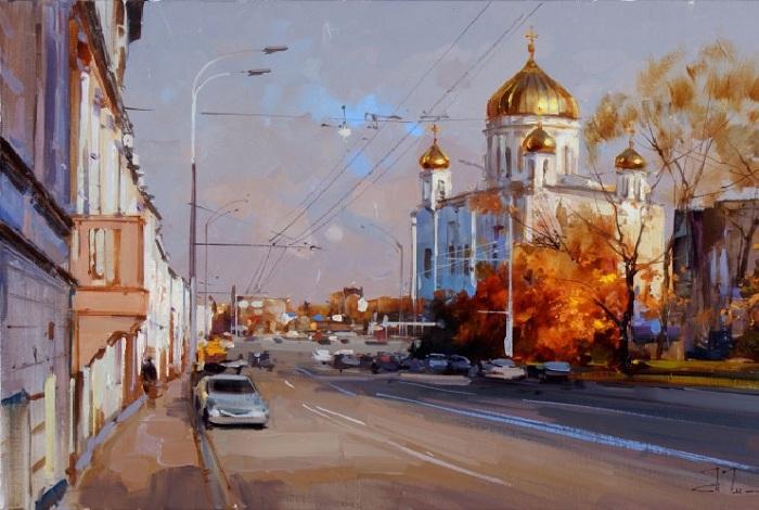 «Пречистенка. Воскресная прогулка». Автор: Шалаев Алексей.