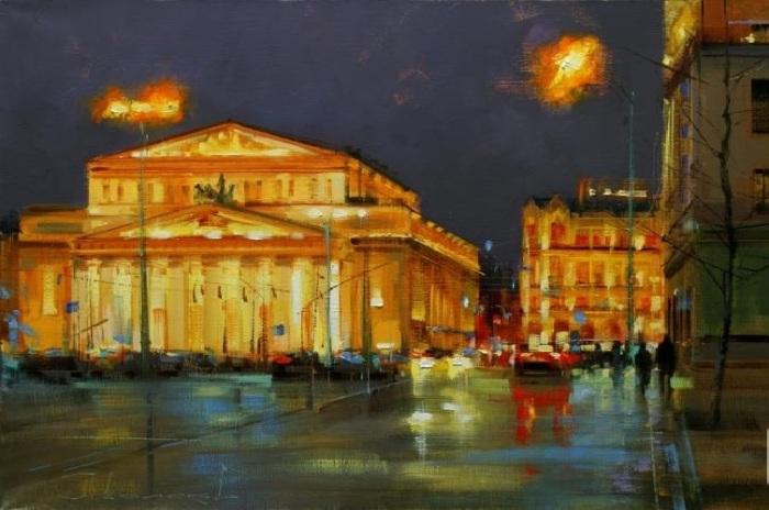 «Ночь на исходе года. Москва. Театральная площадь». Автор: Шалаев Алексей.