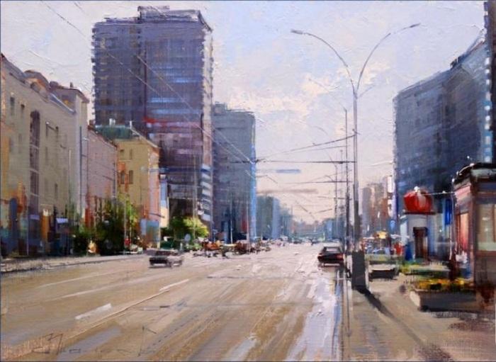 «Арбат майский. Улица Новый Арбат». Автор: Шалаев Алексей.